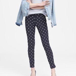 Banana Republic Sloan Skinny Fit Polka Dot Pants